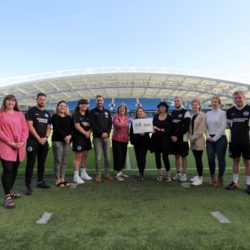 Living Wage 550 shoot with Brighton & Hove Abion FC